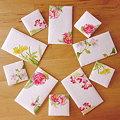 Photos: *和紙の顔彩画ぽち袋 ー秋冬の花ー*