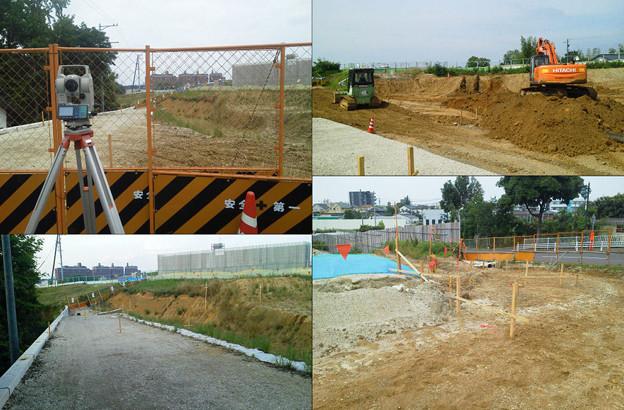 豊田市の工事測量も今日で終了。明日からは豊川市で横断測量~ さらに早朝となり。