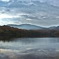 須川湖の夜明け(10月撮影)