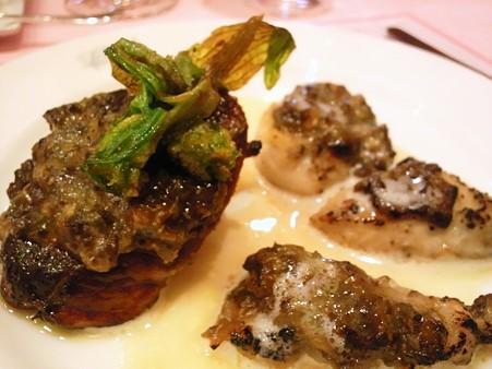 フォアグラと牡蠣のふき味噌仕立て@ちびムージャン