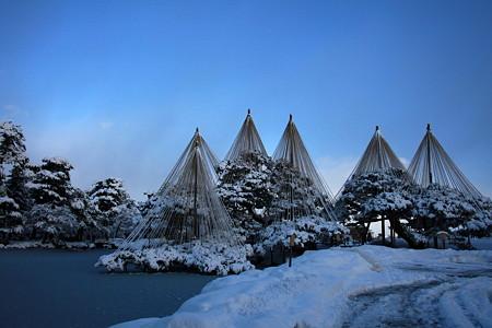 唐崎の松  兼六園の冬景色