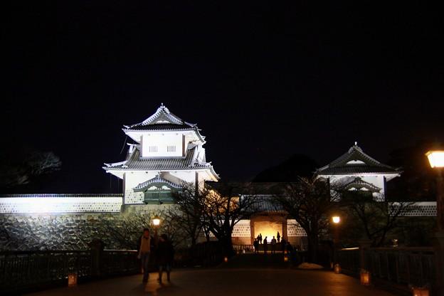 石川門(1) ライトアップ
