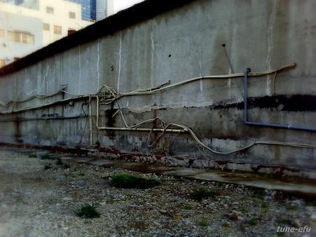 海岸倉庫の壁
