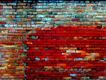 レンガ作りの壁