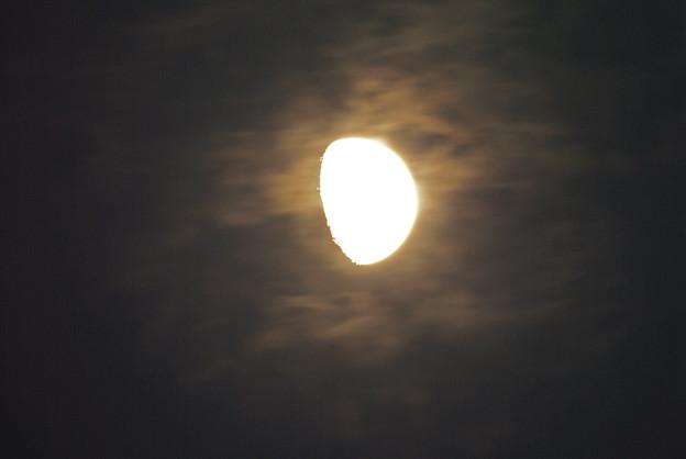 薄雲を身にまといし十日月