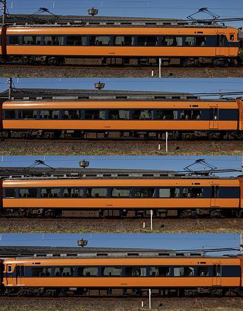 近鉄12400系12402F(NN02)山側側面 2009.12.14