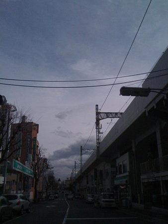 座・高円寺へ向かう空