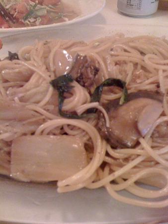 アワビと白菜のパスタ