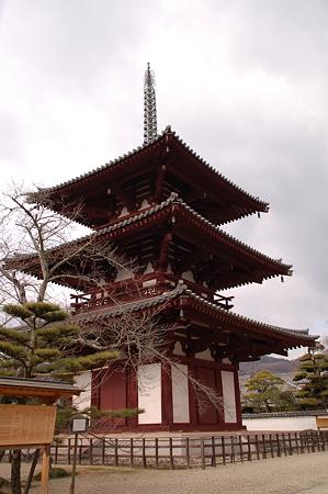 斑鳩法輪寺三重塔