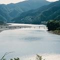 写真: 四万十川と沈下橋