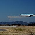 静岡空港 KE779便着陸