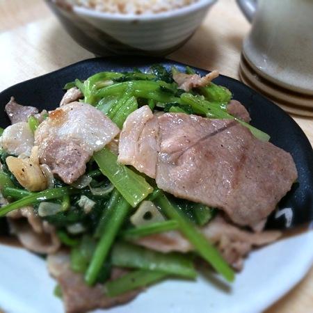 豚肉と小松菜の中華風炒め~