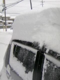 雪の積もった車20100204