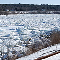 Ice Jam in Kennebec River