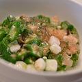 写真: オクラと長芋のサラダ