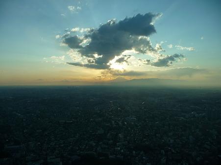 100310-富士山と夕陽 (1)