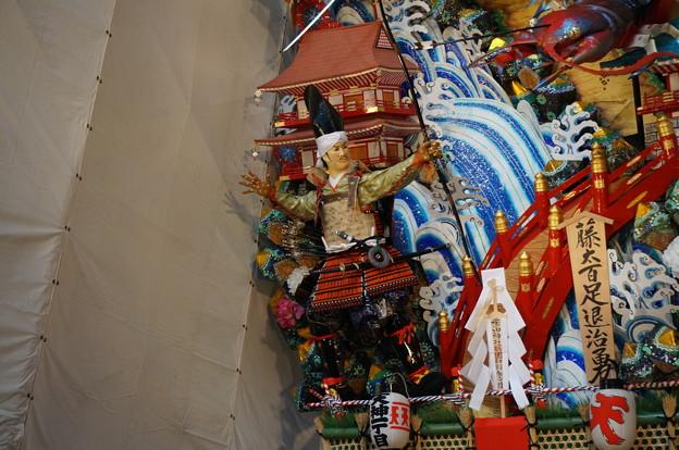 17 2014年 博多祇園山笠 飾り山笠 藤太百足退治勇 (5)