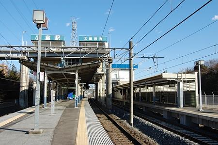 小室駅ホーム