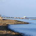 陸奥湾フェリーと蟹田港