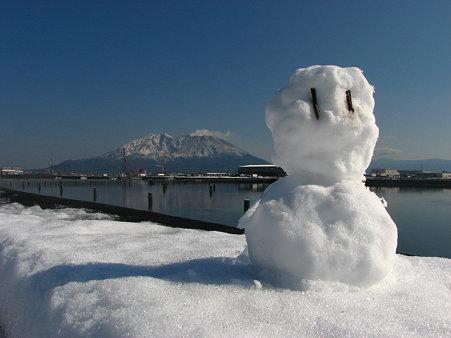 雪だるま作ったー