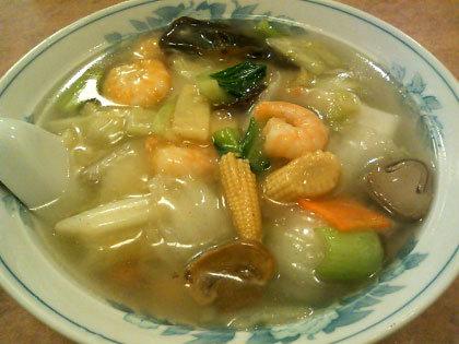 寒い日は、あんかけ五目麺♪