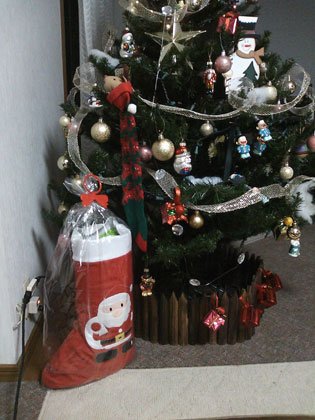 サンタさん、これにプレゼントをいれてください。