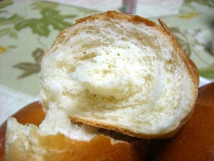割ってみた。バターが香ります。