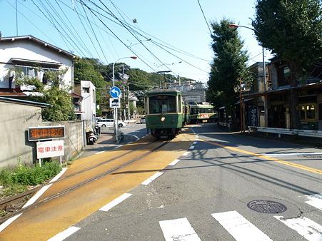 江ノ島→腰越の併用軌道区間4