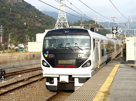 E257系中央本線(大月駅)2