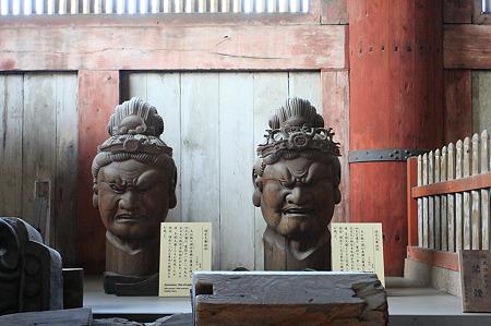 2010.04.28 東大寺 増長天・持国天像頭部