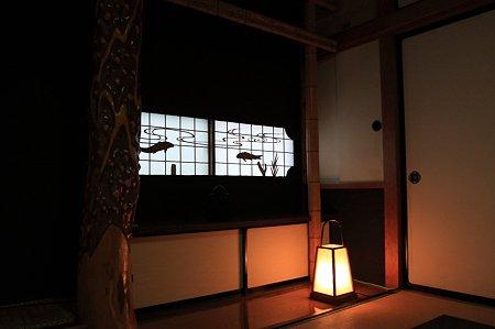 2010.10.27 三沢 はかま田 障子窓に鯉