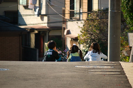 2010.12.18 町内 坂の上 シャボン