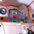 Photos: 直したスピーカーを仮組みで試聴