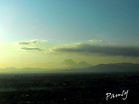 日本一空に近い展望台からの富士山・・