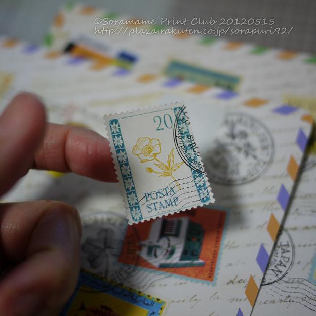 切手風シール-2