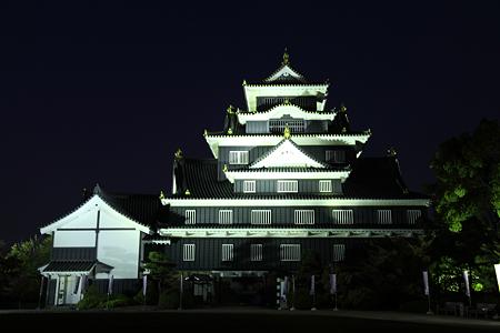 岡山城ライトアップ - 2