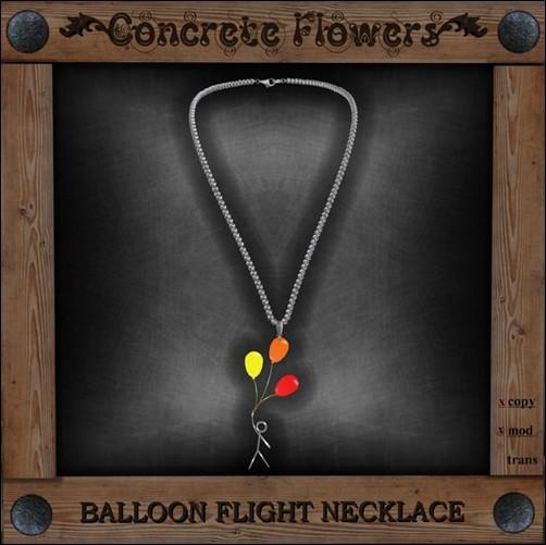 CONCRETE FLOWERS-BALLOON FLIGHT NECKLACE