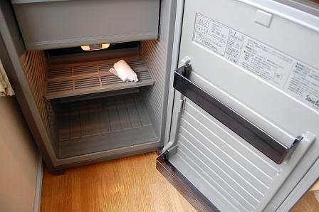 冷蔵庫に、前の客が残した正体不明の食い物がちり紙に包まれたまま、残されていた。スタッフに手渡して処分してもらう