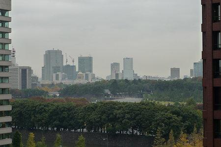 新丸ビルから見た皇居