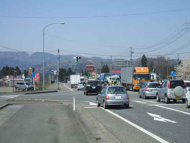 会津坂下IC交差点