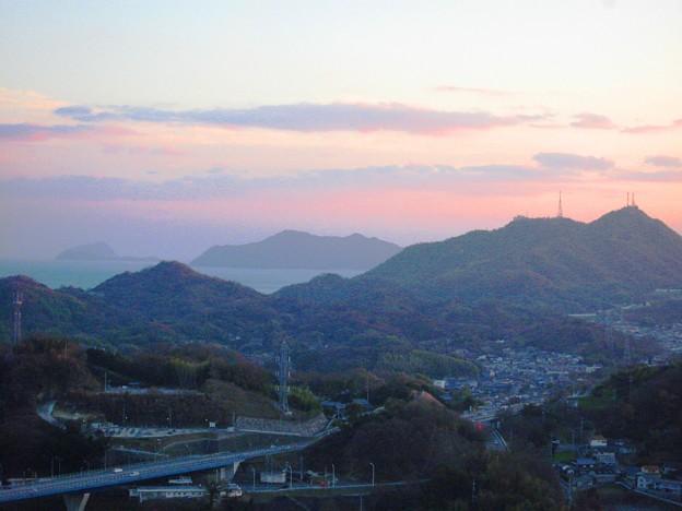 新春三日・瀬戸の夕景