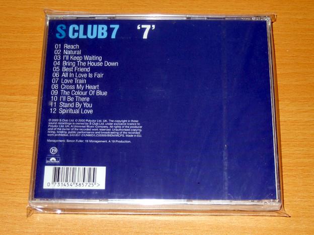 CDアルバム S CLUB 7 - 7 (UK版) 裏