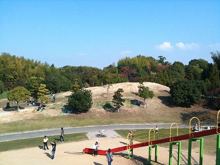 蜻蛉池公園(遊具から見下ろした風景)