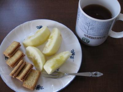 ビスコとりんごとマロングラッセティー
