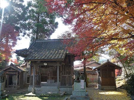 秋月~須賀神社の紅葉(2)