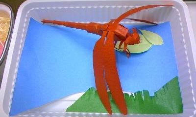 トンボのギフトパッケージ 切り折り紙