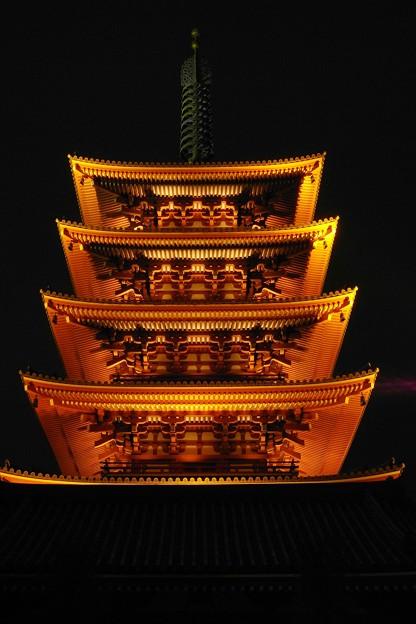Photos: 浅草寺五重塔夜景1227