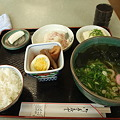 Photos: うどんセット(道の駅・かもがわ円城【岡山】)