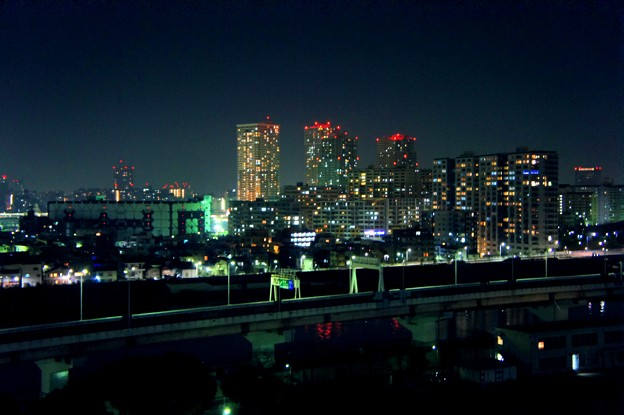 俯瞰で見る 夜景
