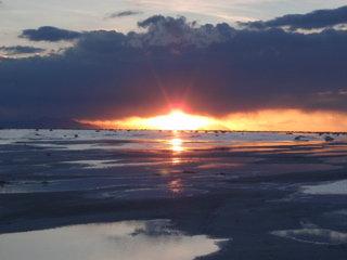 塩湖の夕暮れ3